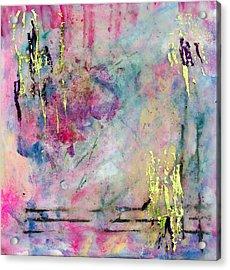 Serene Mist Encaustic Acrylic Print