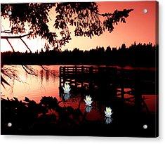 Serene Scene At Lake Ballinger Acrylic Print