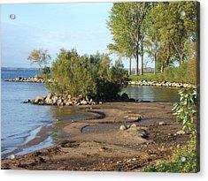 Serene Shores Of The St. Lawrence Acrylic Print by Margaret McDermott