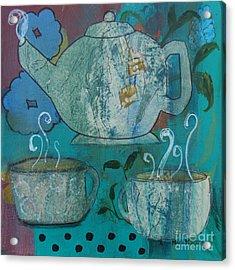 Serene Tea Acrylic Print by Robin Maria Pedrero