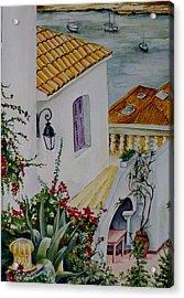 Serene Villa Acrylic Print by Maris Liepins