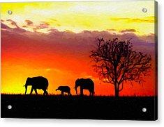 Serengeti Silhouette Acrylic Print