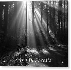 Serenity Awaits Acrylic Print