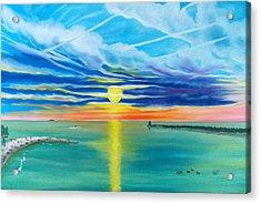Serenity Bay Acrylic Print by Kathern Welsh