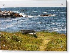 Serenity Bench Acrylic Print