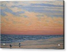 Serenity - Dusk At The Shore Acrylic Print