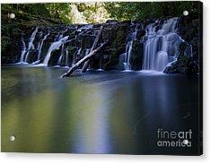 Serenity Falls Acrylic Print by Jackie Follett
