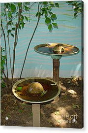 Acrylic Print featuring the photograph Serenity  Fountain by Lyric Lucas