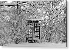 Serenity In Snow Acrylic Print