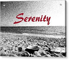 Serenity Acrylic Print by Maggie Rodriguez