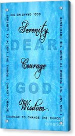 Serenity Prayer Dear God Acrylic Print by Margaret Newcomb