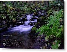 Serenity Prayer  Acrylic Print by Jeff Swan