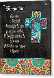 Serenity Prayer Acrylic Print by Jo Moulton