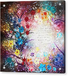 Acrylic Print featuring the painting Serenity Prayer by Patricia Lintner