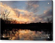 Serenity Prayer Quote Acrylic Print