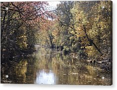 Serenity River Acrylic Print by Nancy Edwards