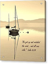 Serenity Scripture Inspirational Quote Acrylic Print