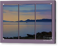 Serenity Tryptych Acrylic Print by Chris Thaxter