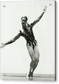 Serge Lifar Wearing A Painted Leotard Acrylic Print by George Hoyningen-Huene