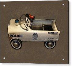 Sergeant Pedal Car Acrylic Print by Michelle Calkins
