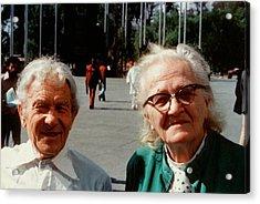 Sergei And Cecilia Gaposchkin Acrylic Print by Emilio Segre Visual Archives/american Institute Of Physics