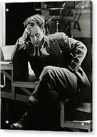 Sergei Eisenstein Sitting On A Staircase Acrylic Print
