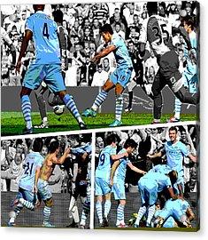 Sergio Aguero Goal Vs Qpr Acrylic Print