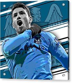 Sergio Aguero Manchester City Print Acrylic Print