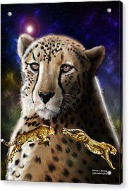 Acrylic Print featuring the digital art First In The Big Cat Series - Cheetah by Thomas J Herring