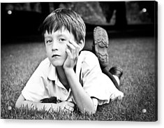 Serious Child Acrylic Print by Tom Gowanlock