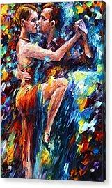 Serious Tango Acrylic Print by Leonid Afremov