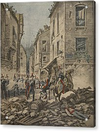 Serious Troubles In Italy Riots Acrylic Print by French School