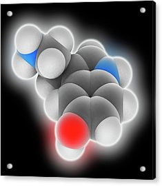 Serotonin Molecule Acrylic Print by Laguna Design