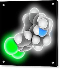 Sertraline Drug Molecule Acrylic Print by Laguna Design