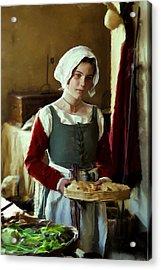 Serving The Bread Acrylic Print