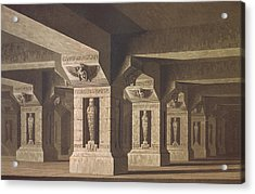 Set Design For Act II Scene Xx Of The Magic Flute By Wolfgang Amadeus Mozart 1756-91  Acrylic Print by Karl Friedrich Schinkel