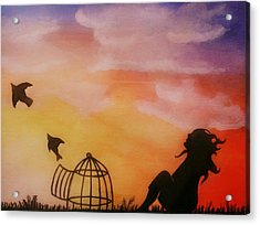Set Free Acrylic Print by Kiara Reynolds