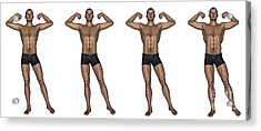Set Of Four Men Showing Progression Acrylic Print