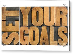 Set Your Goals  Acrylic Print by Marek Uliasz