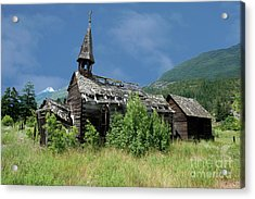 Acrylic Print featuring the photograph Seton Portage Church by Rod Wiens