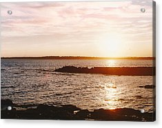 Setting  Acrylic Print by Brian Nogueira