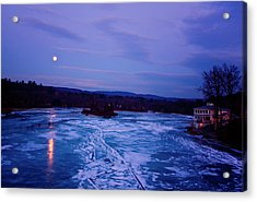 Setting Moon Brattleboro Acrylic Print by Tom Singleton