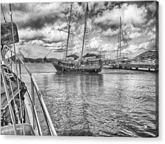 Acrylic Print featuring the photograph Setting Sail by Howard Salmon