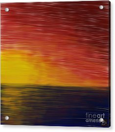Acrylic Print featuring the digital art Setting Sun by Andy Heavens