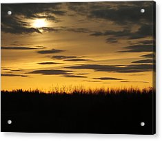 Acrylic Print featuring the photograph Setting Sun by Gene Cyr