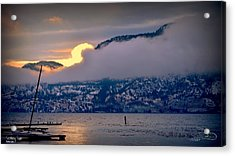 Acrylic Print featuring the photograph Setting Sun by Guy Hoffman