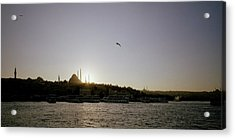 Setting Sun Over Istanbul Acrylic Print by Shaun Higson