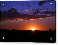 Setting The Western Sky Acrylic Print by Michele Richter