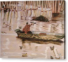 Setting Up In A Tupelo Swamp Acrylic Print by Kevin Callahan