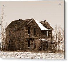 Settlers Dark Shadows House Sepia Acrylic Print